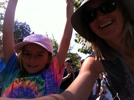 My daughter and I at Eugene's People's Climate March.