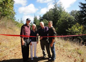 Mulkey Ridge Trail ribbon cutting